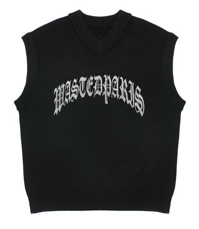 WASTED PARIS Sweater Vest Glasgow - Black