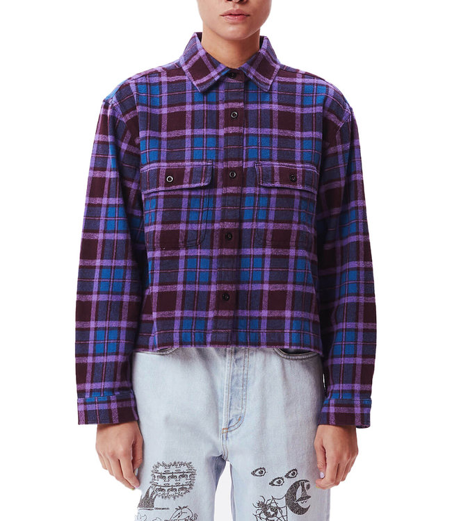 OBEY Camille Flannel Shirt - Brown Multi