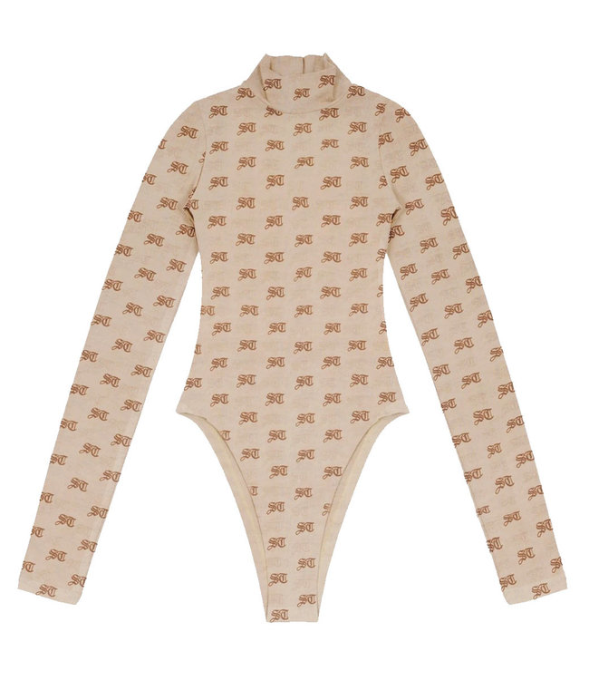 WASTED PARIS Wm Body All Over Monogram Lula Nude/Blue