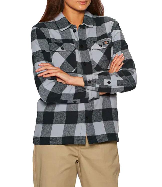 DICKIES New Sacramento Shirt Ls W - Lilac Gray