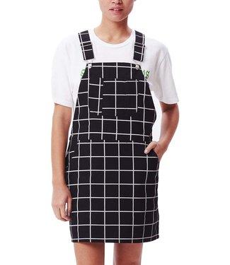 OBEY Estate Overall Dress - Black Multi