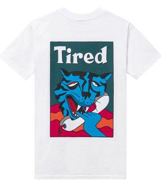 TIRED Cat Call S/S Tee - White