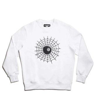 Embroidered web 8 Ball Krew - White