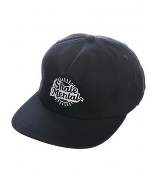 SKATE MENTAL Bright Script Cap - Black