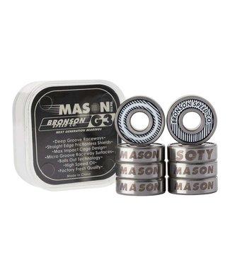 BRONSON SPEED CO. Mason Silva Pro G3 Bearings - White/Black