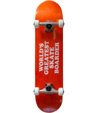 SKATE MENTAL Worlds Greatest Skateboarder Complete Orange - 7.5