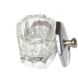 Glas Dappendish Zilveren Deksel