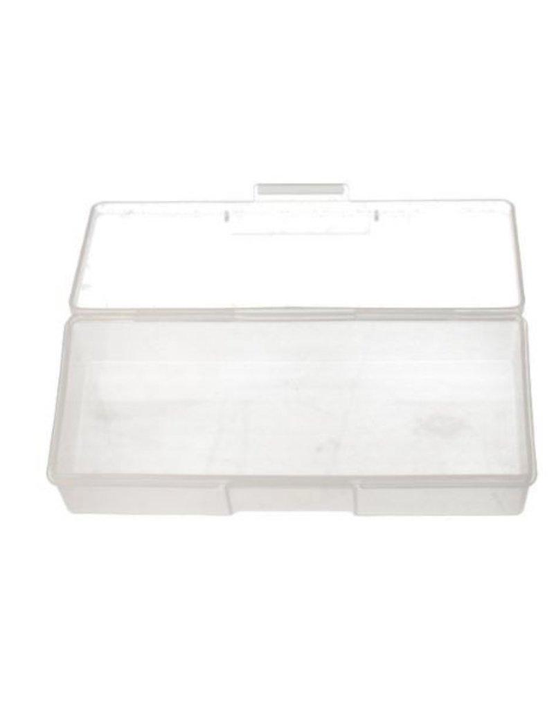 Nail File Storage Box Transparent