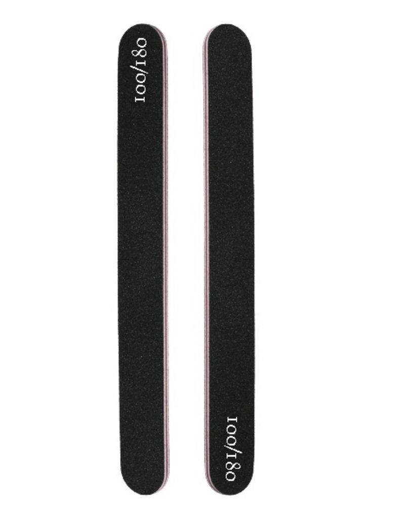 Nail File Straight 100/180 Black