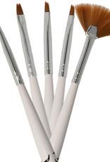 Brush Set Nailart Black-White 5 pcs