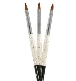 Acrylic Brush Oval Kolinsky Strass NR 4