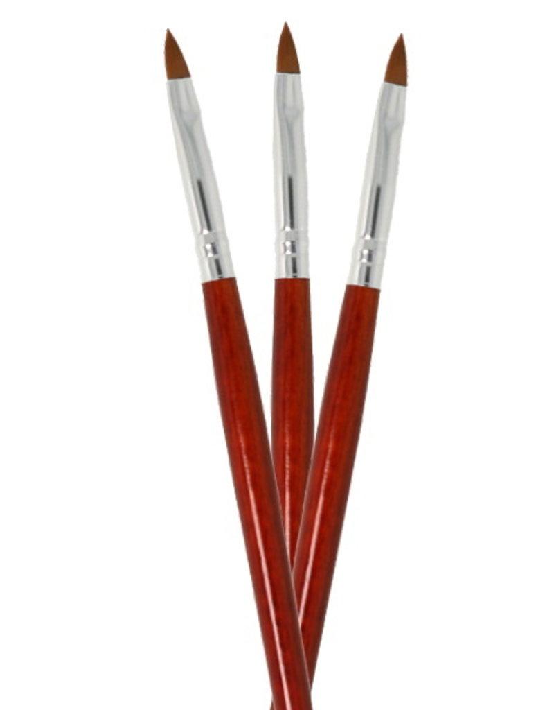 Acryl Penseel Ovaal Rood NR 4