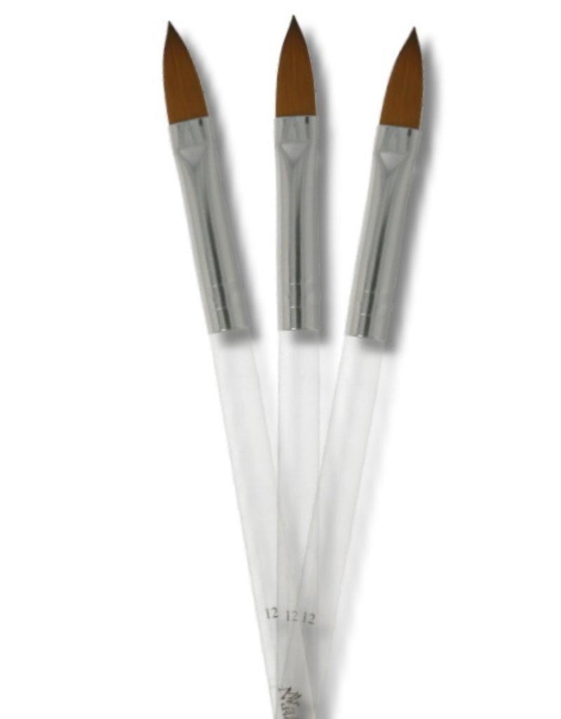 Acrylic Brush Oval Transparant Size 12