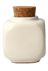 Liquid Pot met Kurkdop Wit