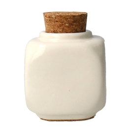 Liquid Jar with Cork White