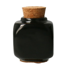 Liquid Jar with Cork Black