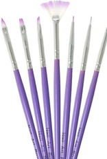Brush Set Nailart Purple 7 pcs