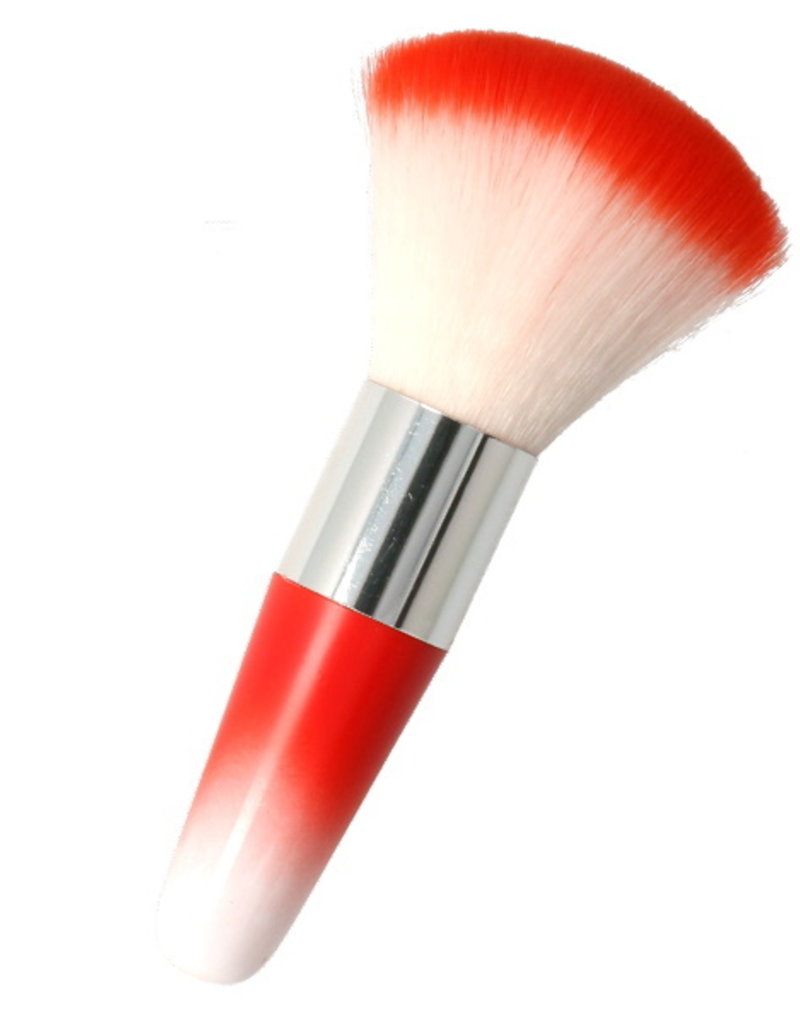 Nail Dust Brush Red