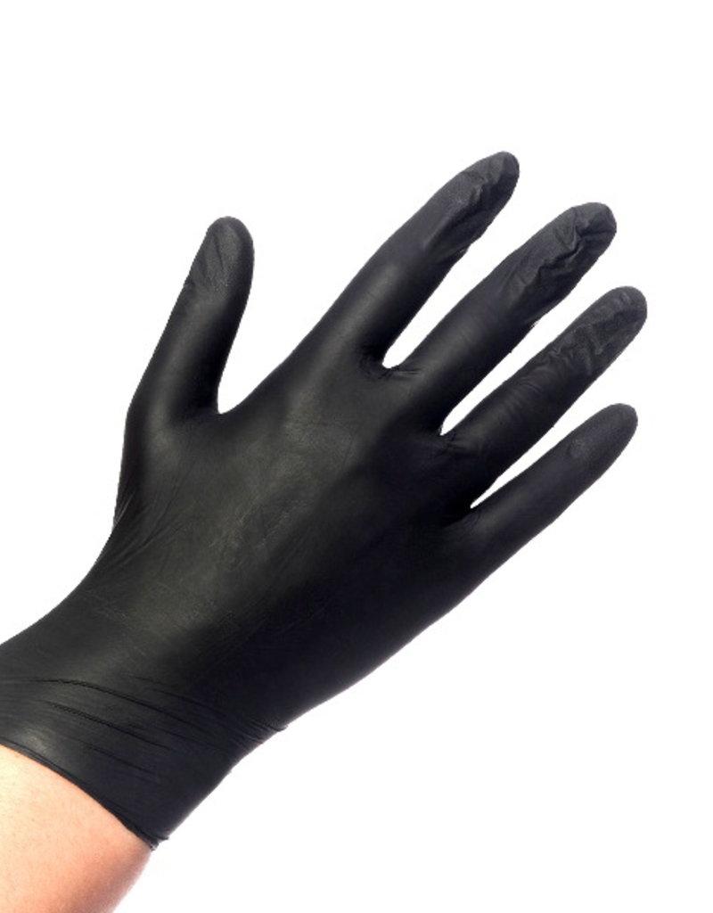 Handschoen Nitrile Zwart L 100 pcs