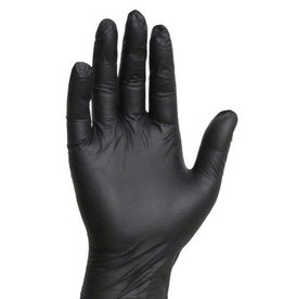 Nitrile Gloves Black S 100 pcs