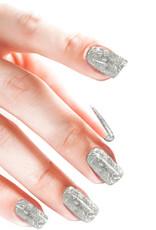 Acrylic Powder Glitter Confetti Silver