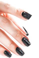 Acrylic Powder Glitter Black