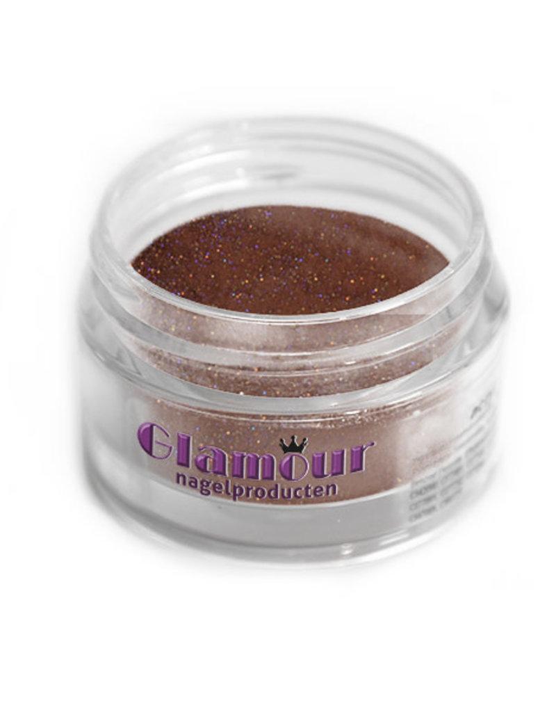 Acrylpoeder Glitter Bruin