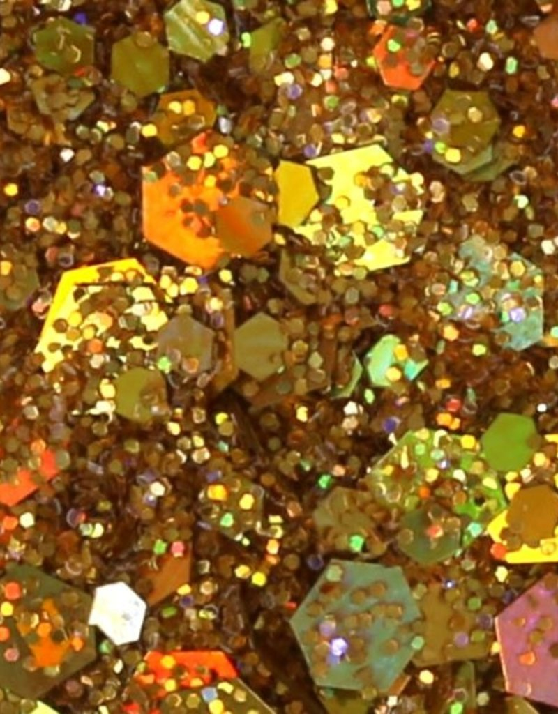 Chunky Mix Glitter Gold