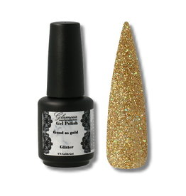 Gel On Glitter Good As Gold