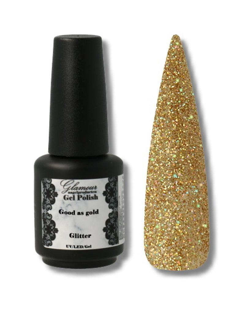 Gel On Glitter Good As Gold