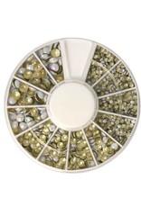 Carrousel Metallics Round Shapes AB White