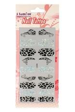 Nail Tattoo Giraffe Glitter/Black