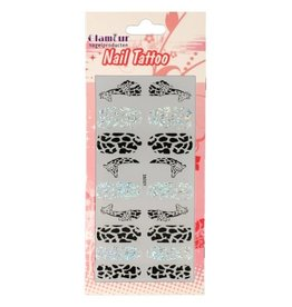 Nail Tattoo Giraffe Glitter/Black