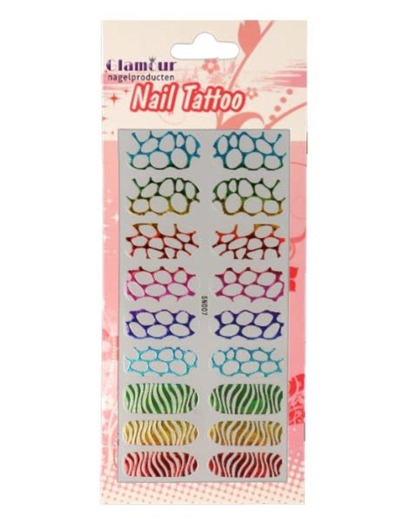 Nail Tattoo Leopard/Zebra Multicolor