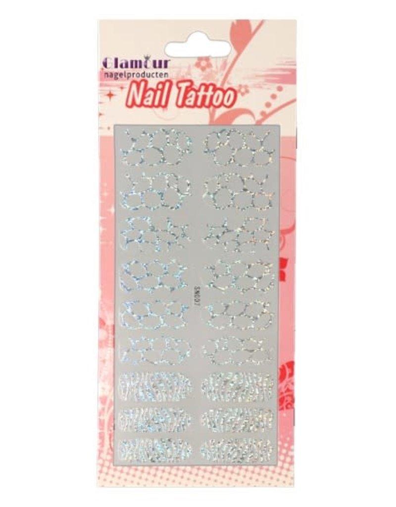 Nail Tattoo Leopard/Zebra Glitter