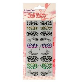 Nail Tattoo Giraffe Multicolor