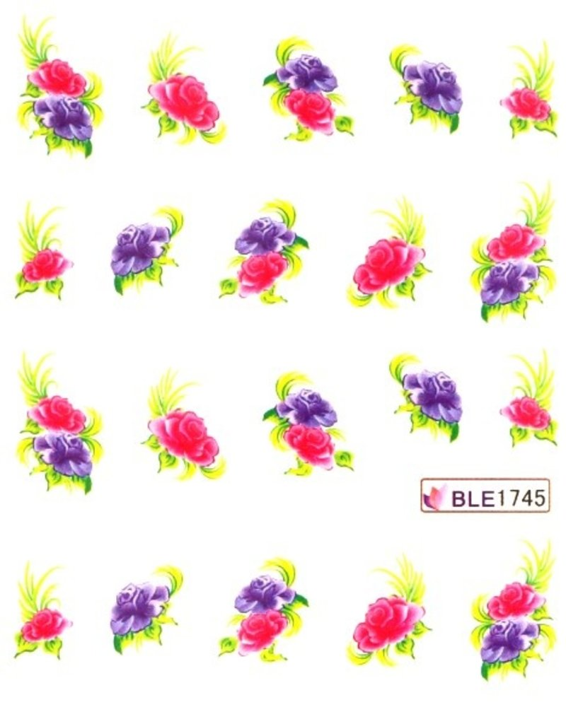 Waterdecal Flowers  BLE1745