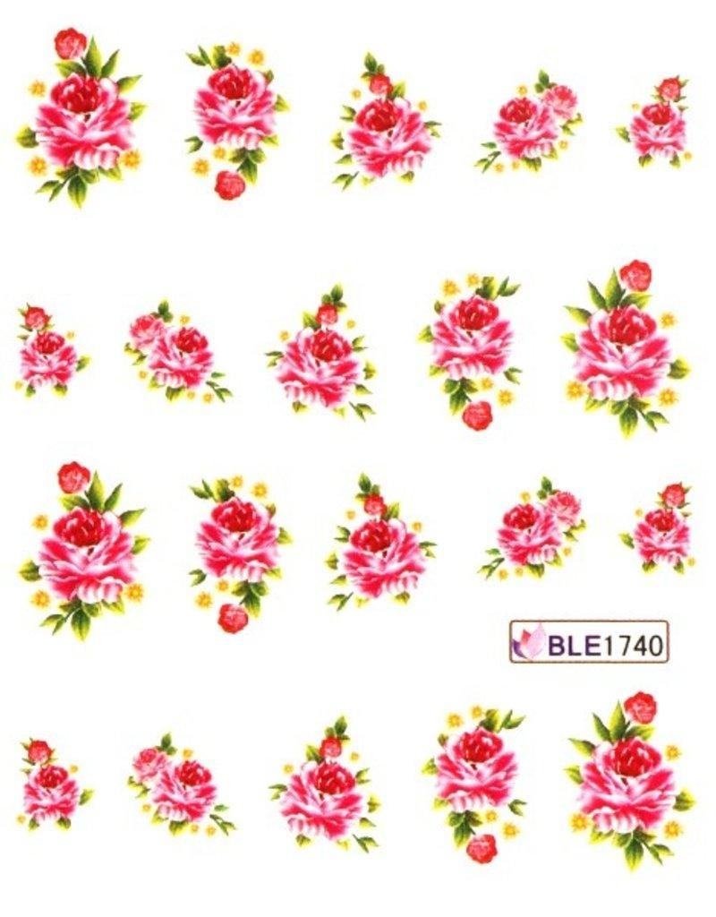 Waterdecal Bloemen BLE1740