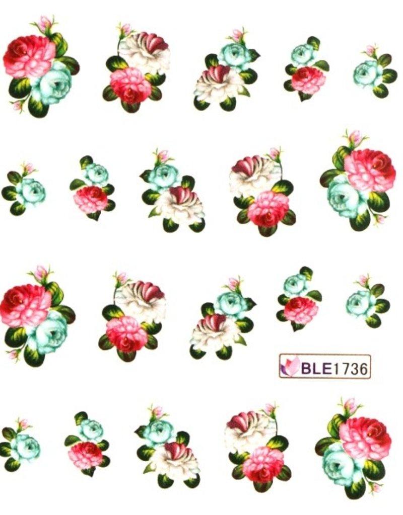 Waterdecal Bloemen BLE1736