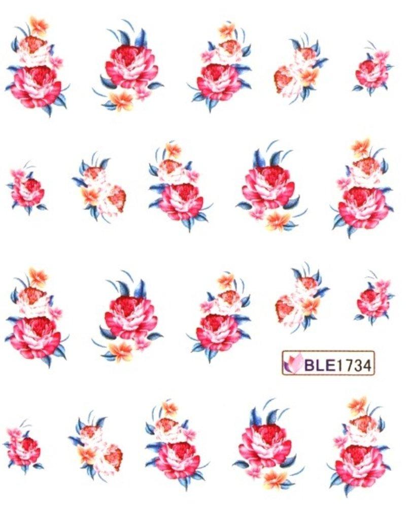 Waterdecal Bloemen BLE1734