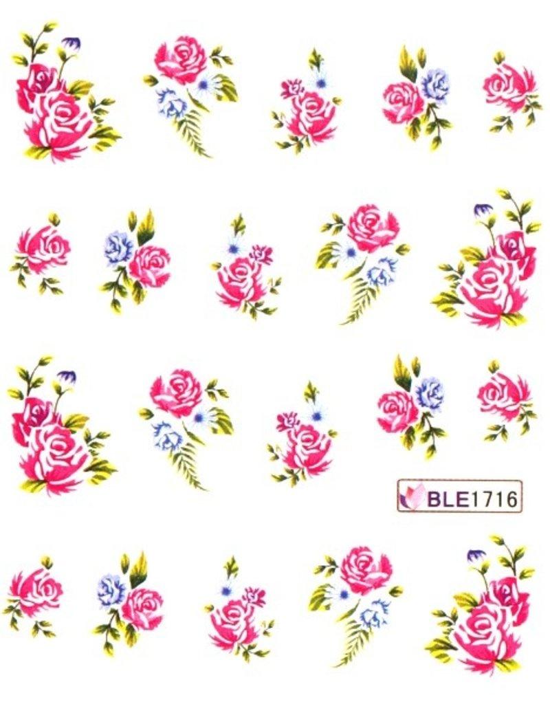 Waterdecal Bloemen BLE1716