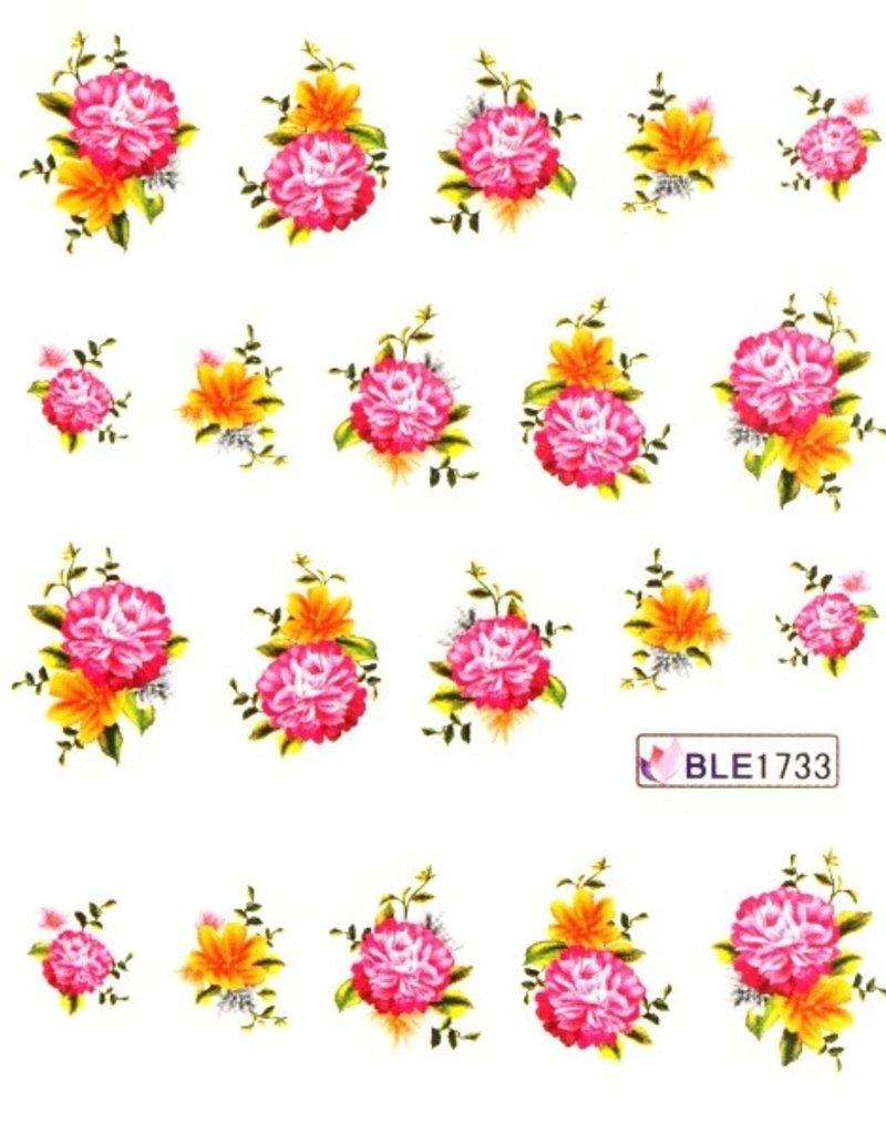 Waterdecal Bloemen BLE1733