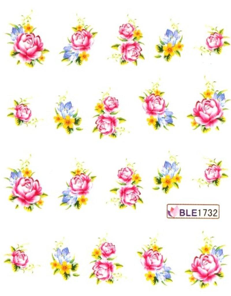 Waterdecal Bloemen BLE1732
