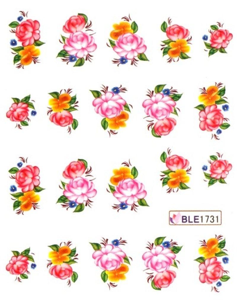 Waterdecal Bloemen BLE1731