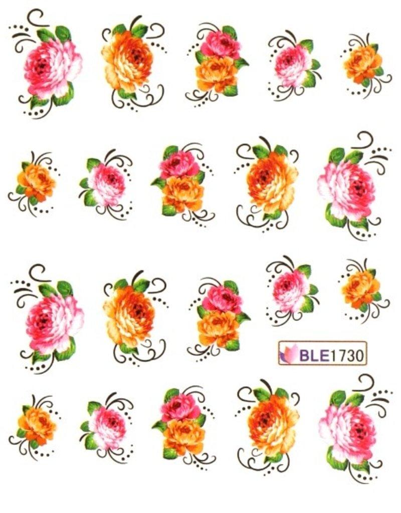 Waterdecal Bloemen BLE1730