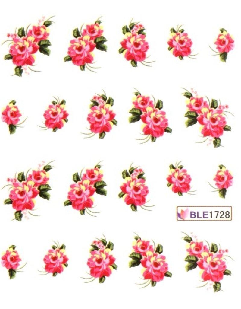 Waterdecal Bloemen BLE1728