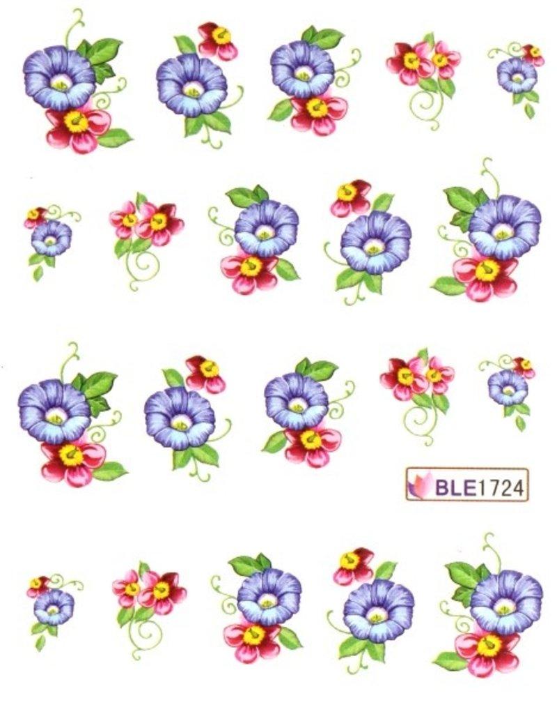 Waterdecal Bloemen BLE1724