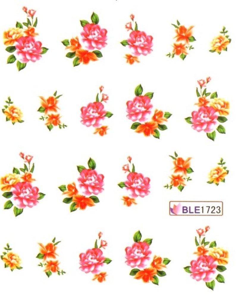 Waterdecal Bloemen BLE1723