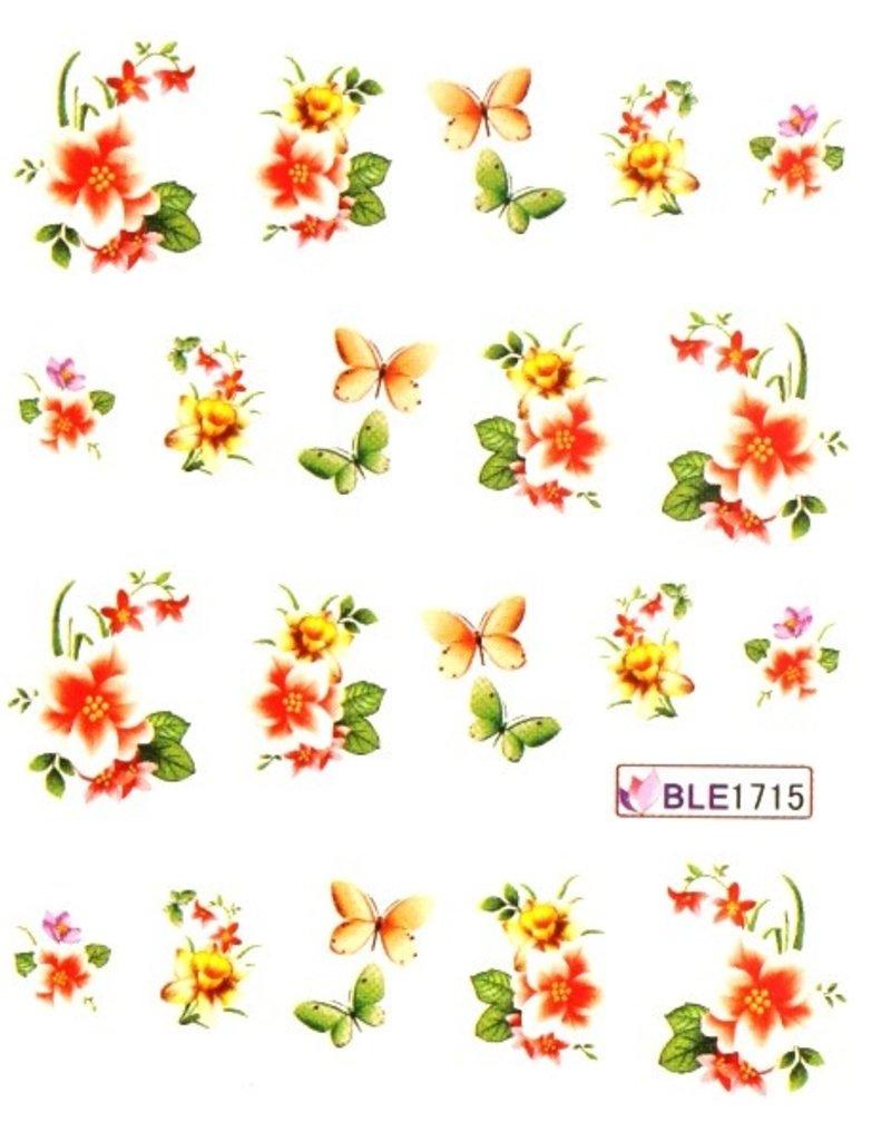 Waterdecal Bloemen BLE1715