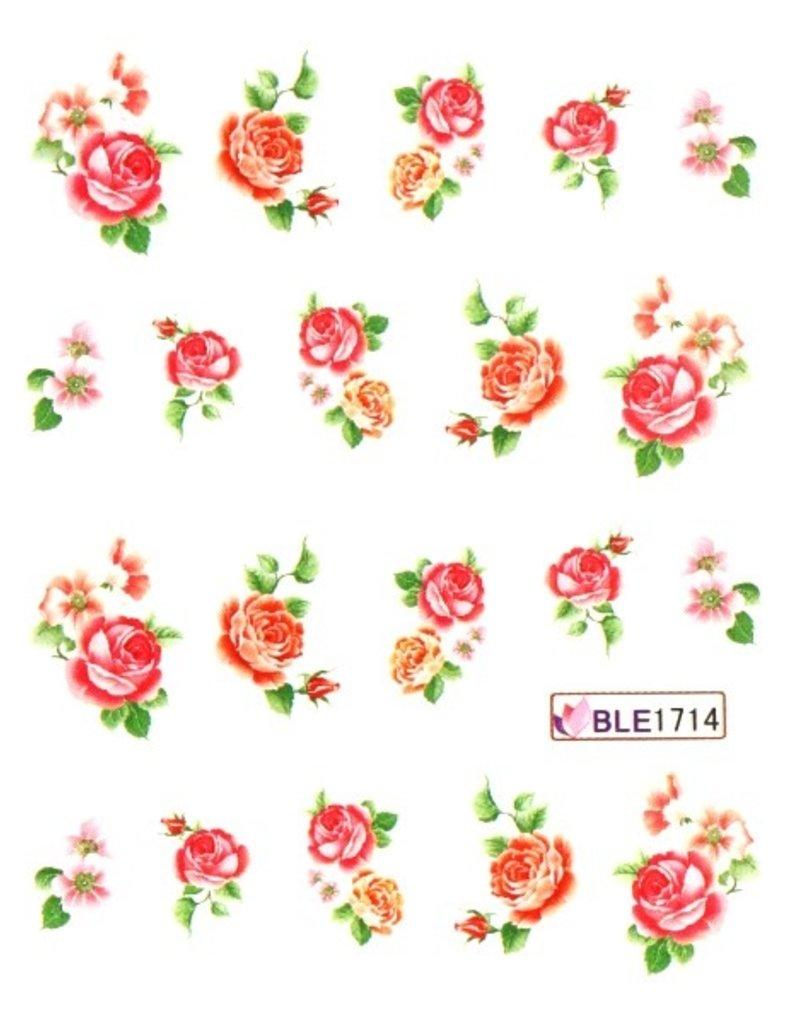 Waterdecal Bloemen BLE1714